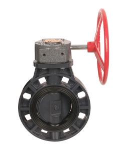 63-400mm EPDM/NBR를 가진 기어 유형 PVC Buttrefly 벨브