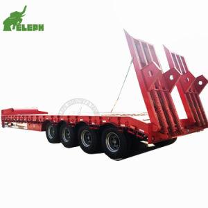 80 toneladas de BPW ejes llevar maquinaria pesada Lowbed Tráiler Remorque