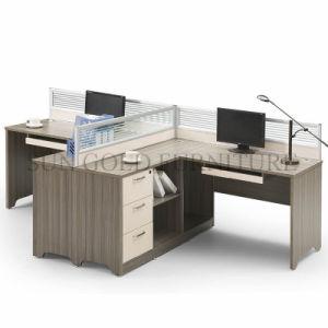 Nuevo Centro moderno de la partición de la Oficina de mesa para 2 ...