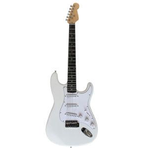Estándar de pintura blanca sólida estrato Guitarra eléctrica