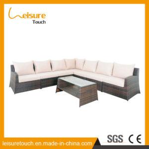 Sala de estar Mobiliário de Jardim Interior/Exterior de vime espreguiçadeiras sofá de canto definido