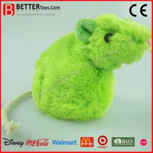 Giocattolo molle del gatto dell'animale domestico En71 del giocattolo dell'animale farcito del ratto realistico della peluche