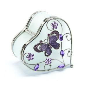 Contenitore di monili di vetro su ordinazione all'ingrosso di lusso del regalo della collana (Hx-7254)