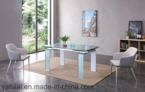 Mesa de comedor Muebles de Salón rectángulo de juego de mesa de comedor de cristal