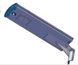 新しいデザイン動きセンサーが付いている統合された太陽LED街灯