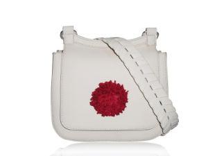 Manier Dame Flower Cow Leather Handbag