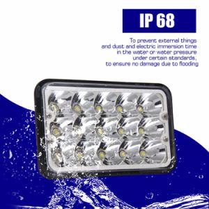 最もよい販売IP67 4500lmの角度の目のハイ・ロービーム45W点の洪水のトラック4X6 LEDのヘッドライト