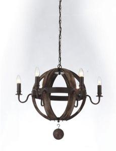 Einfacher Hauptdekor-hölzerne hängende Lampen (N-063S-6)