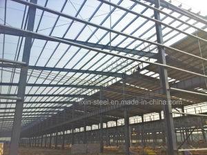 Estructura de acero industrial almacn taller de construccin de