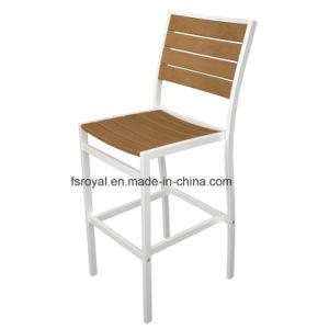 屋外のテラスの多木製アルミニウム庭のダイニングテーブルおよび棒椅子の家具セット