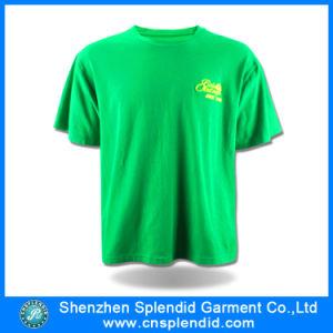 Magliette stampate cotone di alta qualità degli uomini verdi del trivello