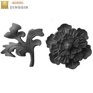 手すりおよび塀のための鋳鉄の葉そして花