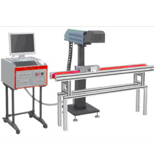 Benchtop Fliegen-Laser-Markierungs-Maschine für Plastik