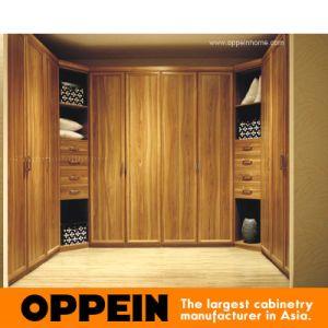 Wardrobe de madeira articulado fabricante da venda por atacado da mobília do quarto de Guangzhou (OPY09-9)