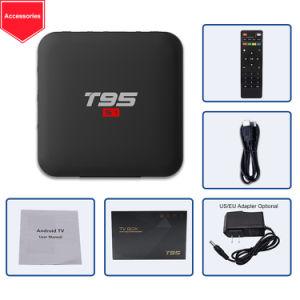 T95 Doos van TV van de Kern van de Vierling van S1 de Androïde Slimme met Amlogic S905W 2+16g voor OEM/ODM
