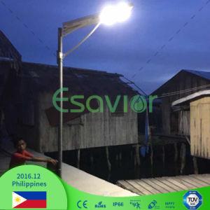 Ce certifié 20W/50W/80W/100W/120 W Outdoor tout en un seul voyant intégré Rue lumière solaire avec batterie au lithium & Motion Senor