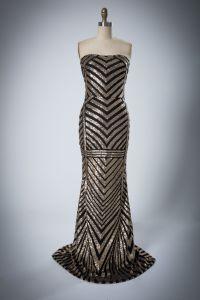 Señoras'sChest-Wrapped Sequined sexy vestido de noche