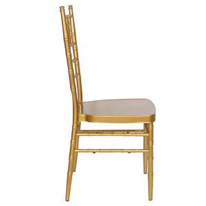 Resina de metal de alumínio de empilhamento Hotel Restaurant Wedding Chiavari cadeira (XYM-ZJ02)