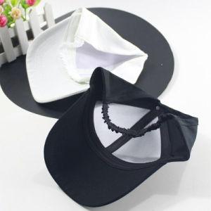 Tissu 6 panneau personnalisé Fashion femmes Casquette de baseball broderie 3D Trou Visor chapeau avec queue de cheval
