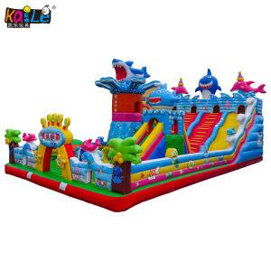 2019 Hot Amusement Park requin océanique Jumping Animal château gonflable jouet Combo bouncer
