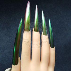Яркий Chameleon пигментные наружного зеркала заднего вида хромированные порошок для лак для ногтей гелем польский