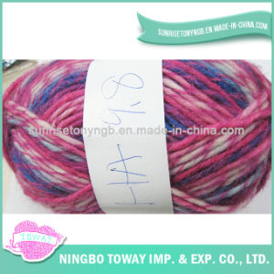 Da linha transversal do ponto do algodão fio 100% de confeção de malhas do ofício de lãs