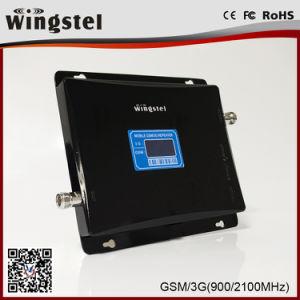 2018 de hete Repeater van het Signaal van de Repeater van het Signaal van de Band van de Versterker van het Signaal van de Verkoop 900/2100MHz Dubbele Zwarte 2g 3G