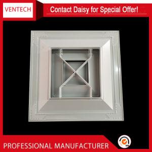 Aire acondicionado de 4 vías de suministro de aluminio difusor de techo cuadrado