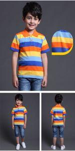 2017 Fashion 100% algodão Desporto infantis T-shirt Polo de Desgaste