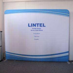 10FTの展示会の背景幕の張力ファブリック表示