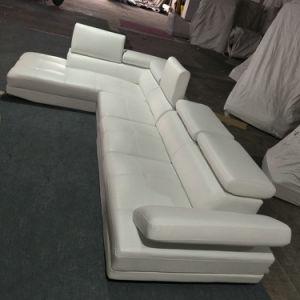 工場価格の現代ホーム家具の居間白いカラー革ソファー(A10)