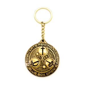 승진 사기질 금속 금 열쇠 고리 철회 가능한 반지 금속 승화 트롤리 동전