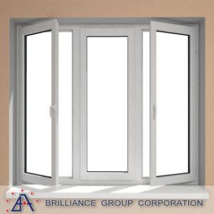 미국식 알루미늄 단면도 이중 유리를 끼우는 여닫이 창 Windows