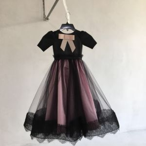 699194691e92 La ragazza dentellare nera del merletto scherza l abito Qh5590 di promenade  del vestito da