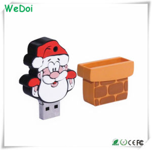 Рождество с Санта Клаусом бестселлеров пера USB накопитель с низкой стоимости (WY-PL15)