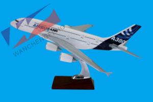 A380エアバスのスケールの平面モデル