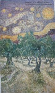 Olieverfschilderij -009 van de indruk