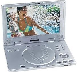 "Ultraslim 10.2 "" 와이드 스크린 휴대용 DVD 플레이어 (D2010)"
