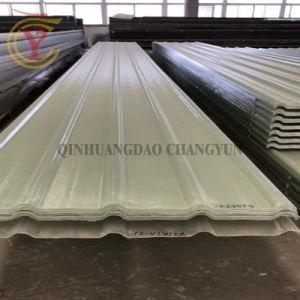 Ignifugé lucarne de toit ondulé panneau en fibre de verre de PRF