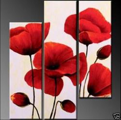 Het Olieverfschilderij van de bloem (A004)
