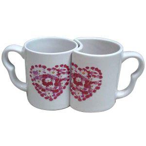 De Ceramische Mok van het Ontwerp van de Valentijnskaart van het paar van Qlb007