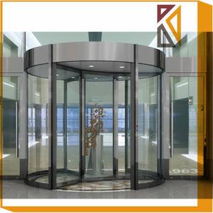 Автоматическая вращающаяся дверь из стекла с датчиком присутствия безопасности