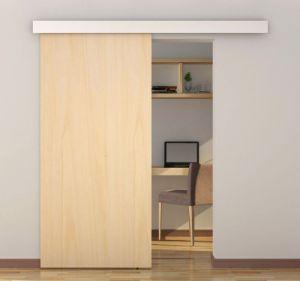 Soft-Close interior do vidro corrediço de porta de madeira com tampa superior