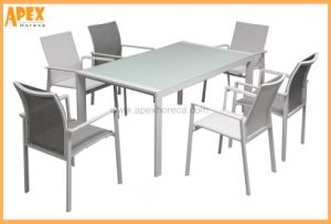 Conjunto de silla textil Muebles de Exterior Mesa seccional mobiliario de jardín