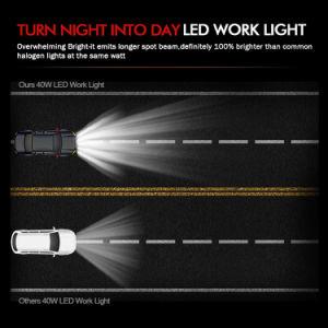 道極度の明るい40W LED作業ライト12Vを離れた工場供給
