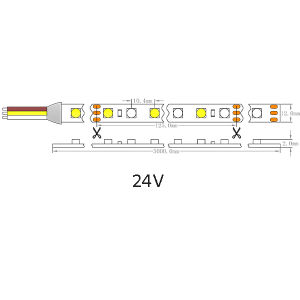 UL Ce Epistar Variable 5050 Color blanco resistente al agua IP20, TIRA DE LEDS