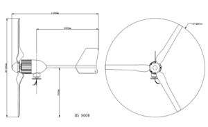 motores inferiores del generador de turbina de viento de la revolución por minuto de 800W 24V/48V para la venta