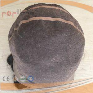 モノラルレースの人間の毛髪PUのカスタムかつら(PPG-l-0910)