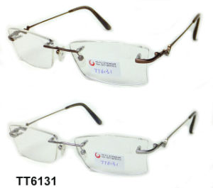 Frame Frameless van het Titanium van de manier het Volledige Optische (TT 6131)