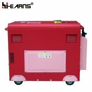 Air-Cooled de type silencieux Phase unique de groupe électrogène diesel (DG7500SE)